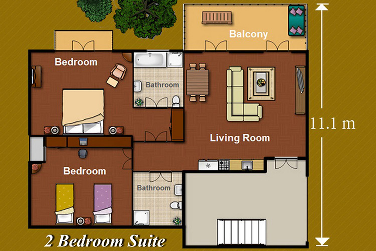2_Bedroom_Suite_with_Jet_tub
